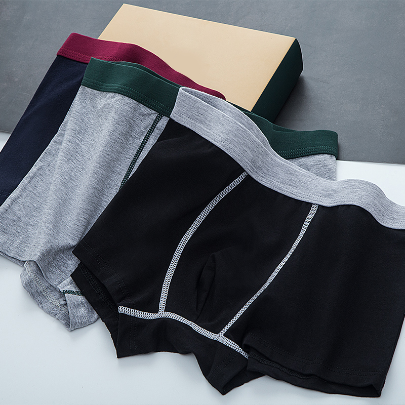Men's cotton quality underwear boxer shorts cotton comfortable breathable spring and autumn big yards men's shorts pants