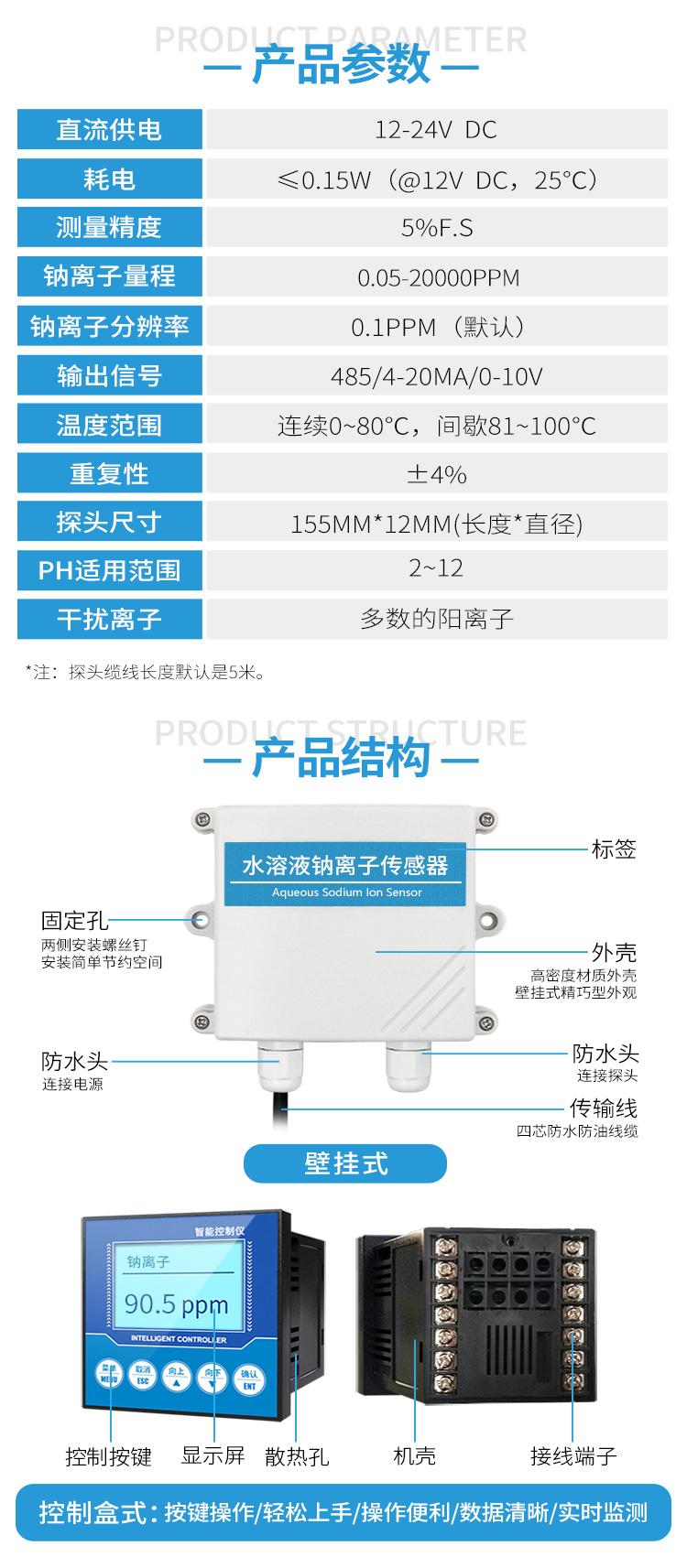 水质钠离子传感器