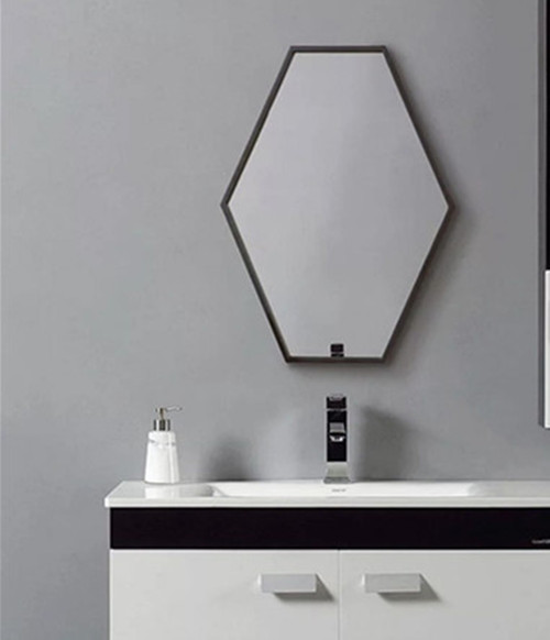 Groovy Nordic Bathroom Mirror Bathroom Mirror Wall Mounted Toilet Makeup Six Sided Diamond Shaped Edging Decorative Mirror Mirror Hanging Mirror Download Free Architecture Designs Osuribritishbridgeorg