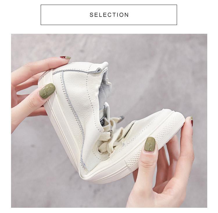 大尺码女鞋春款百搭真皮小白鞋女春季新款孕妇平底单鞋详细照片