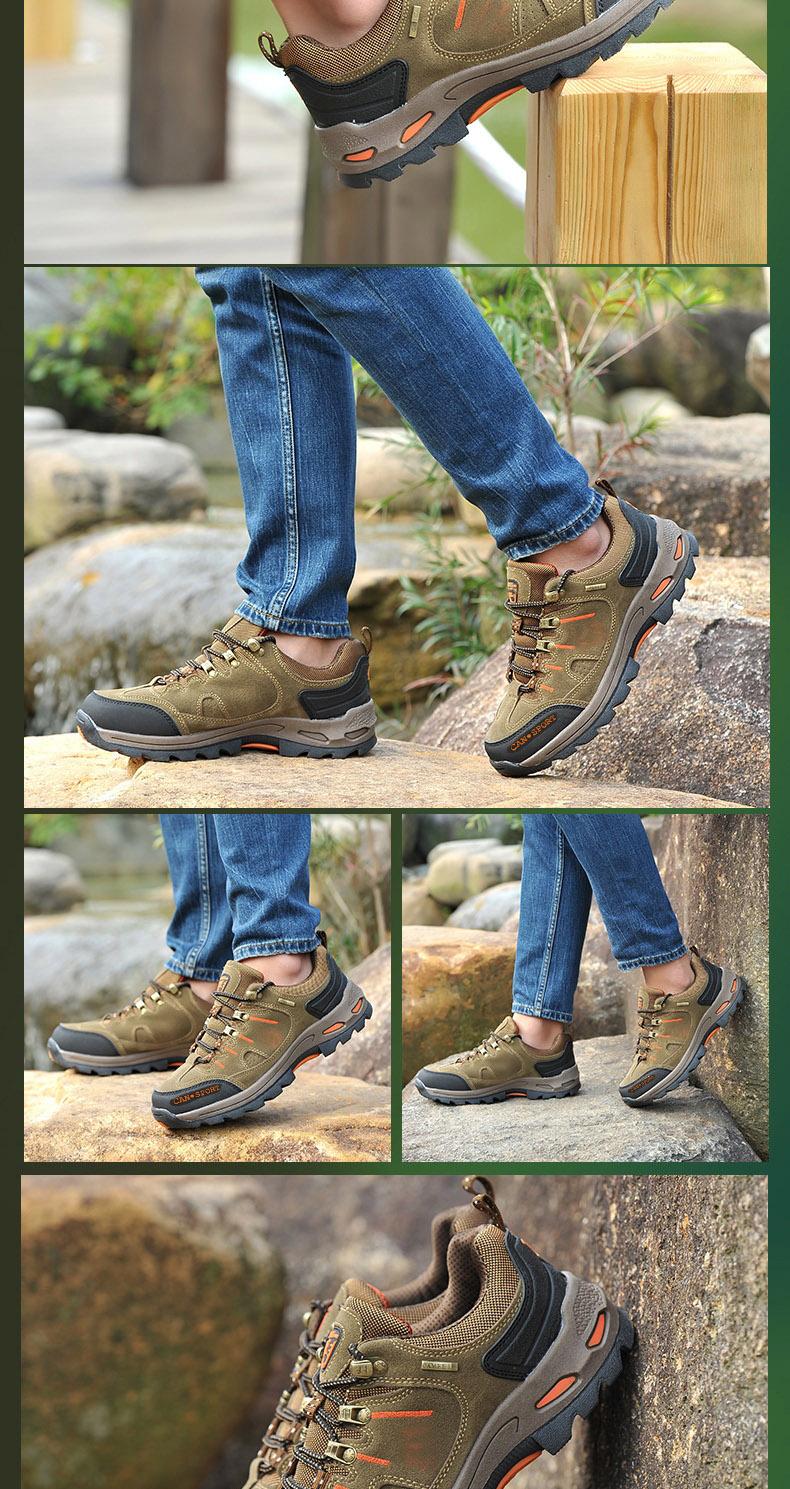 骆鸵男鞋春季透气跑步鞋男士运动休闲鞋旅游鞋防滑户外鞋登山鞋男