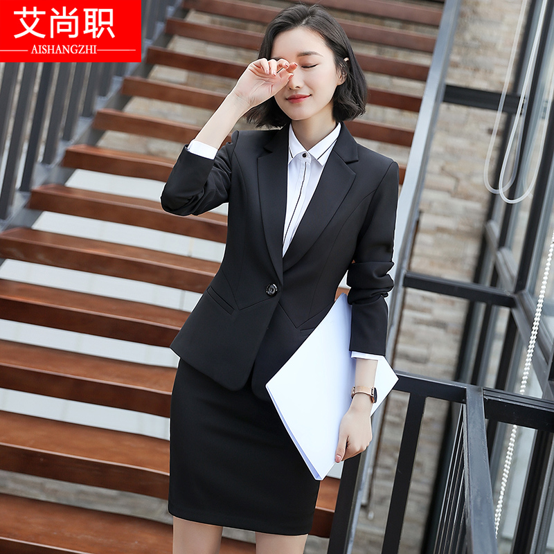 165c0db32a4 Suit suit female professional wear 2018 autumn and winter new fashion  temperament Slim college students interview dress uniforms
