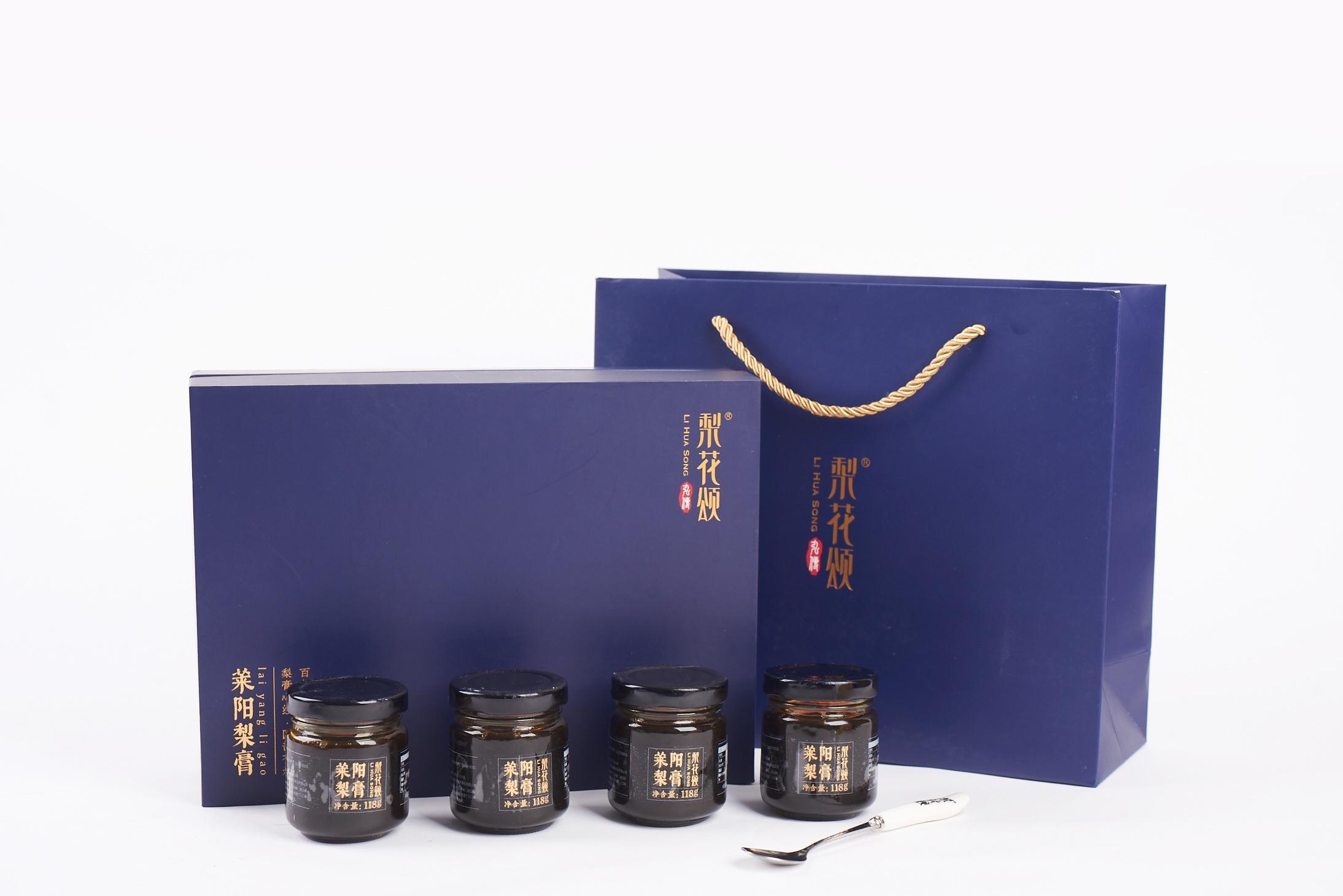 四瓶装精装礼盒梨膏