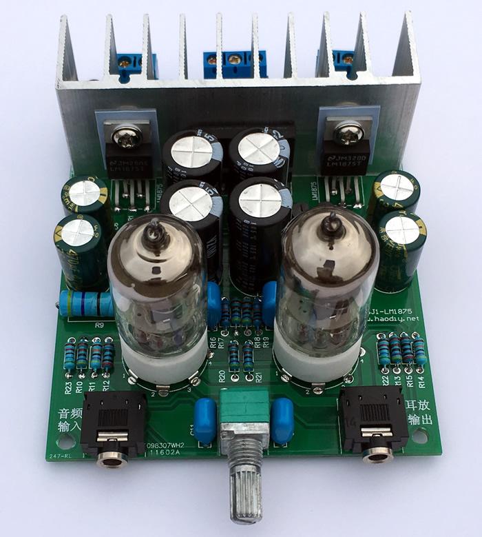Hifi лихорадка 6j1 ламповый предусилитель lm1875t усилитель мощности усилитель мощности панель Комплект усилителя