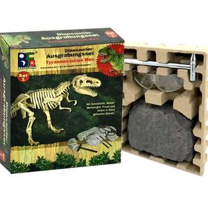 玩学堂恐龙化石考古挖掘玩具 儿童手工diy挖宝藏骨架挖宝石挖矿