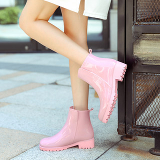Ms. short boots boots-in-tube sets fashion models Waichuan type shoes non-slip waterproof shoes warm winter plus velvet cotton