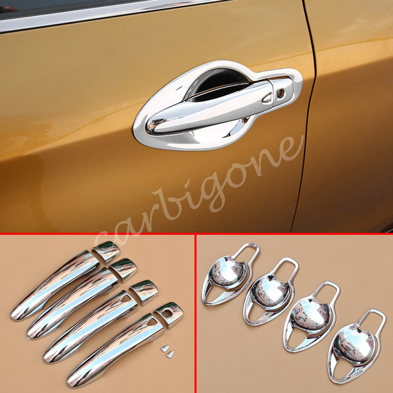 Chrome Door Handle Bowl Cup Cover Trim For Mazda CX5 2017-2020 Accessories Parts