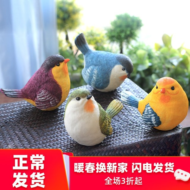 Creative outdoor garden gardening garden balcony home furnishing wine cabinet decoration resin simulation bird decoration