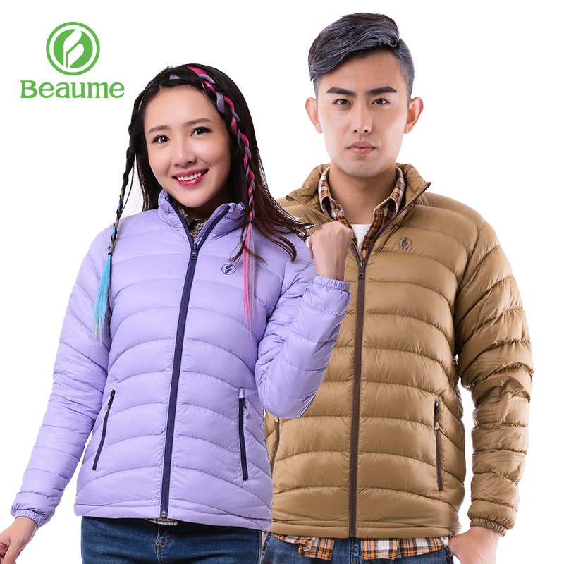 5d27eac1921 BEAUME Baomei autumn and winter couple models men and women sports and  leisure warm jacket Korean fashion thin down jacket