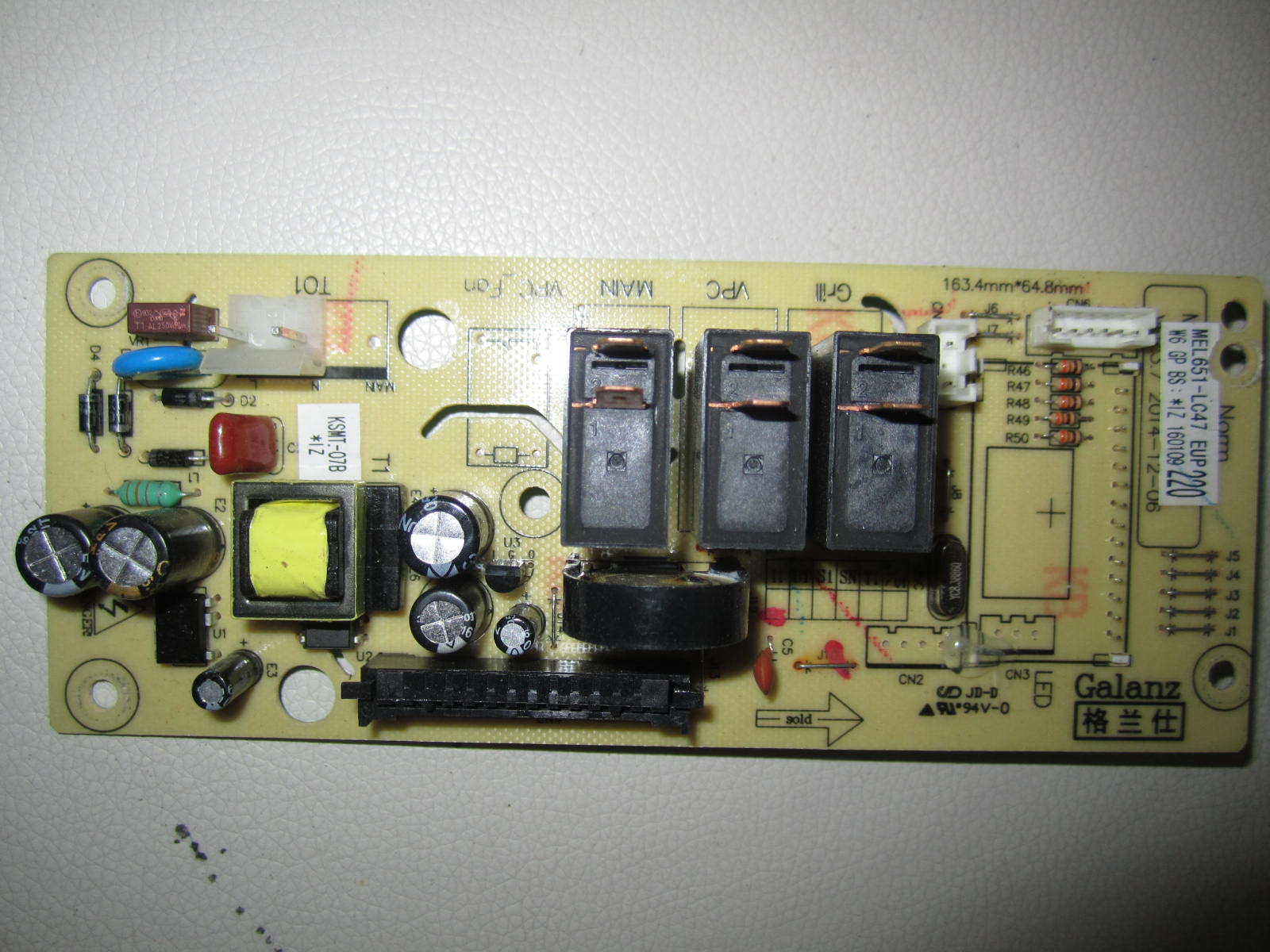 Usd 1423 Mel651 Lc47 Lc17 Lc6lc28 Galanz Microwave Oven Computer Circuit Board G70d20cn1p D2s0