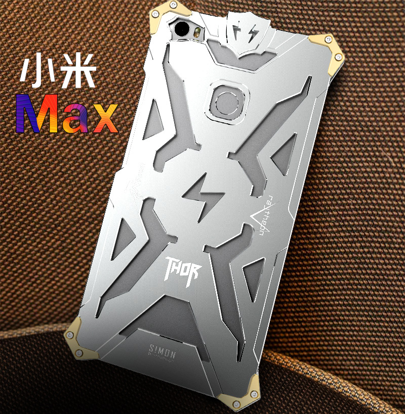 SIMON THOR Aviation Aluminum Alloy Shockproof Armor Metal Case Cover for Xiaomi Mi Max