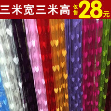 Finished love curtains Encrypted wedding 3 m * 3 m partition curtain Korean curtain curtain decoration fringed curtains