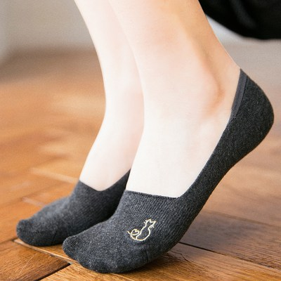 Boat socks female silicone non-slip summer bed socks female super shallow mouth invisible socks summer thin style socks socks support single shoes