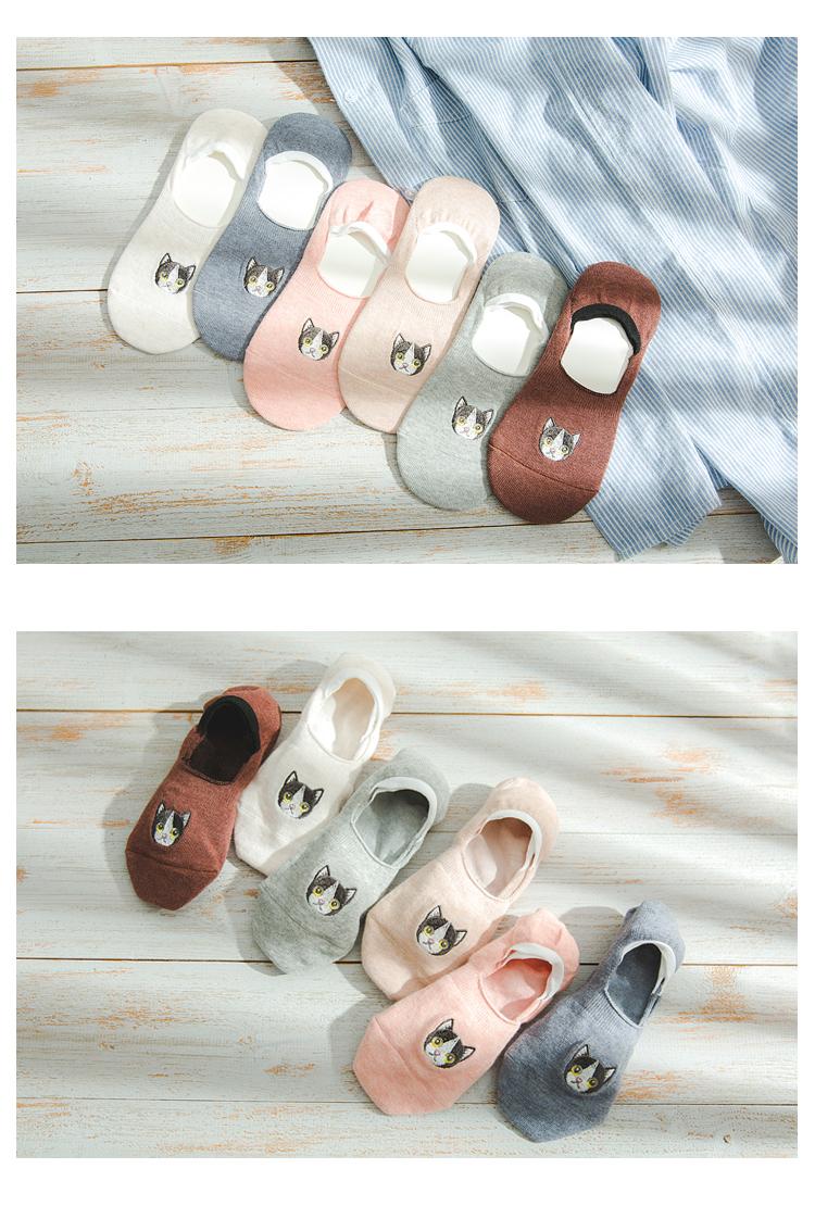 袜子女短袜浅口韩国可爱隐形袜女生夏季低帮硅胶防滑薄款纯棉隐形袜详细照片