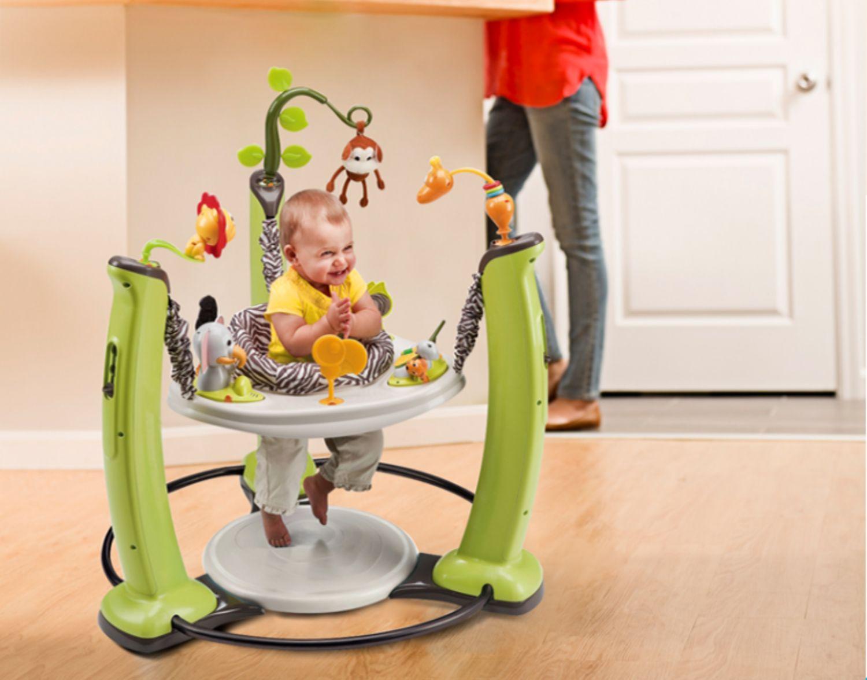 美国婴儿健身架器跳跳椅宝宝弹跳岁玩具早教音乐游戏桌详细照片