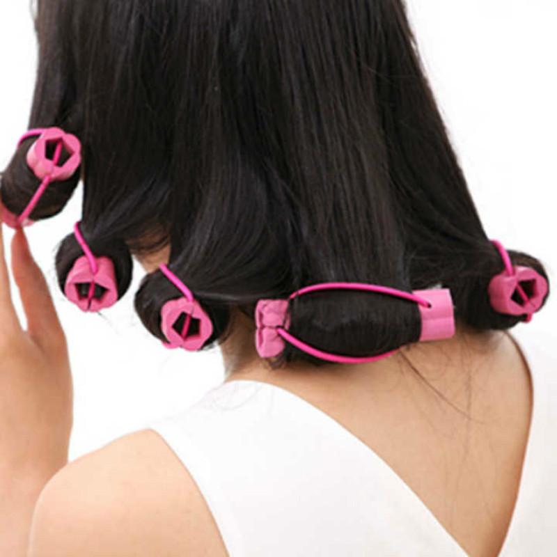 6个装不伤发质健康发卷花朵型自粘卷发棒美发工具海绵卷发器