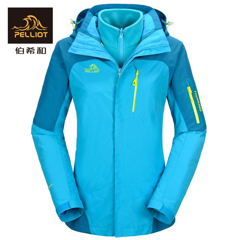 куртка Франция первичной греческого и на открытом воздухе куртка женщины три в одном два кусок набор ватки водонепроницаемый дышащий тепло альпинизм одежда