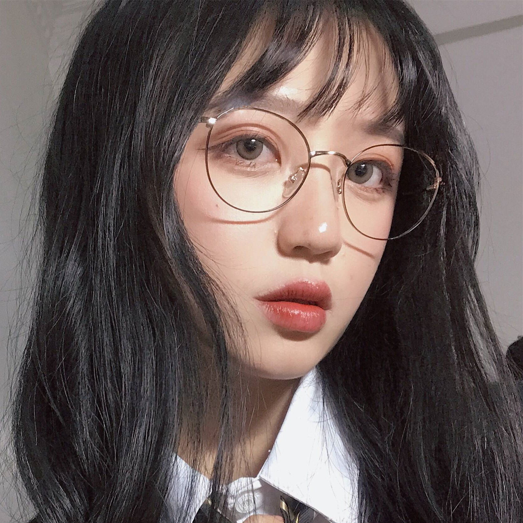 4645478e53 Korean version of the retro retro Harajuku style ulzzang glasses frame  female round face plain face