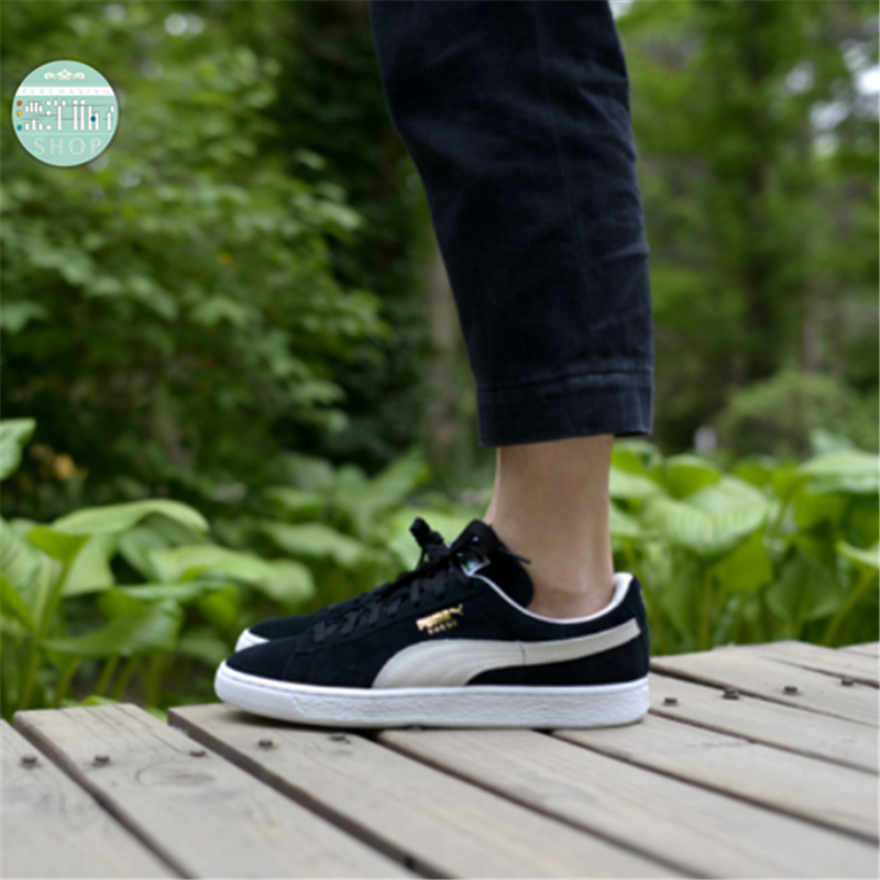 50d4c3abfced Puma Suede Classic Black and white men and women shoes trend leisure sports  shoes 352634-03