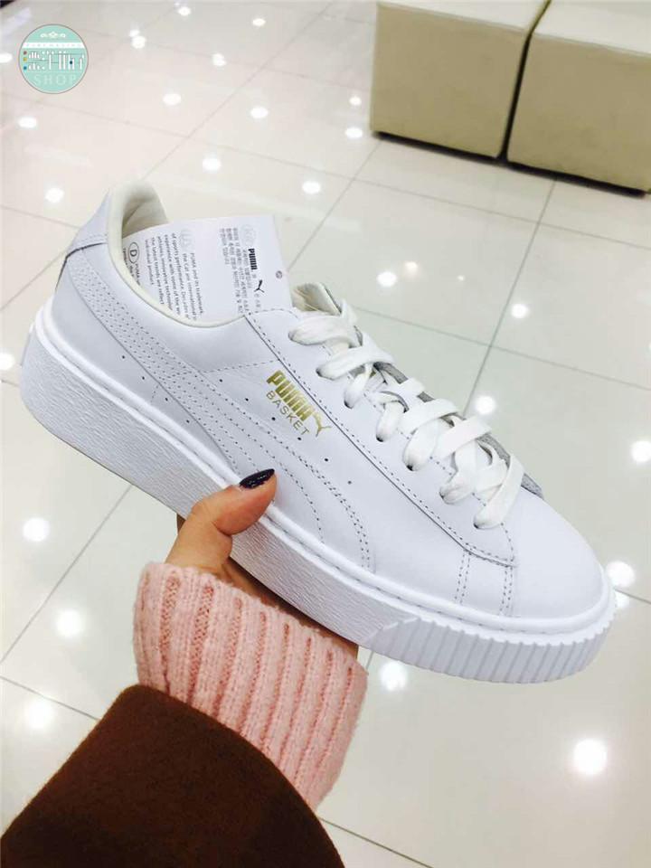 Puma Puma Basket Platform SMU Rihanna pure white thick platform shoes  364040-04. Zoom · lightbox moreview · lightbox moreview · lightbox moreview  · lightbox ... 960d563d3