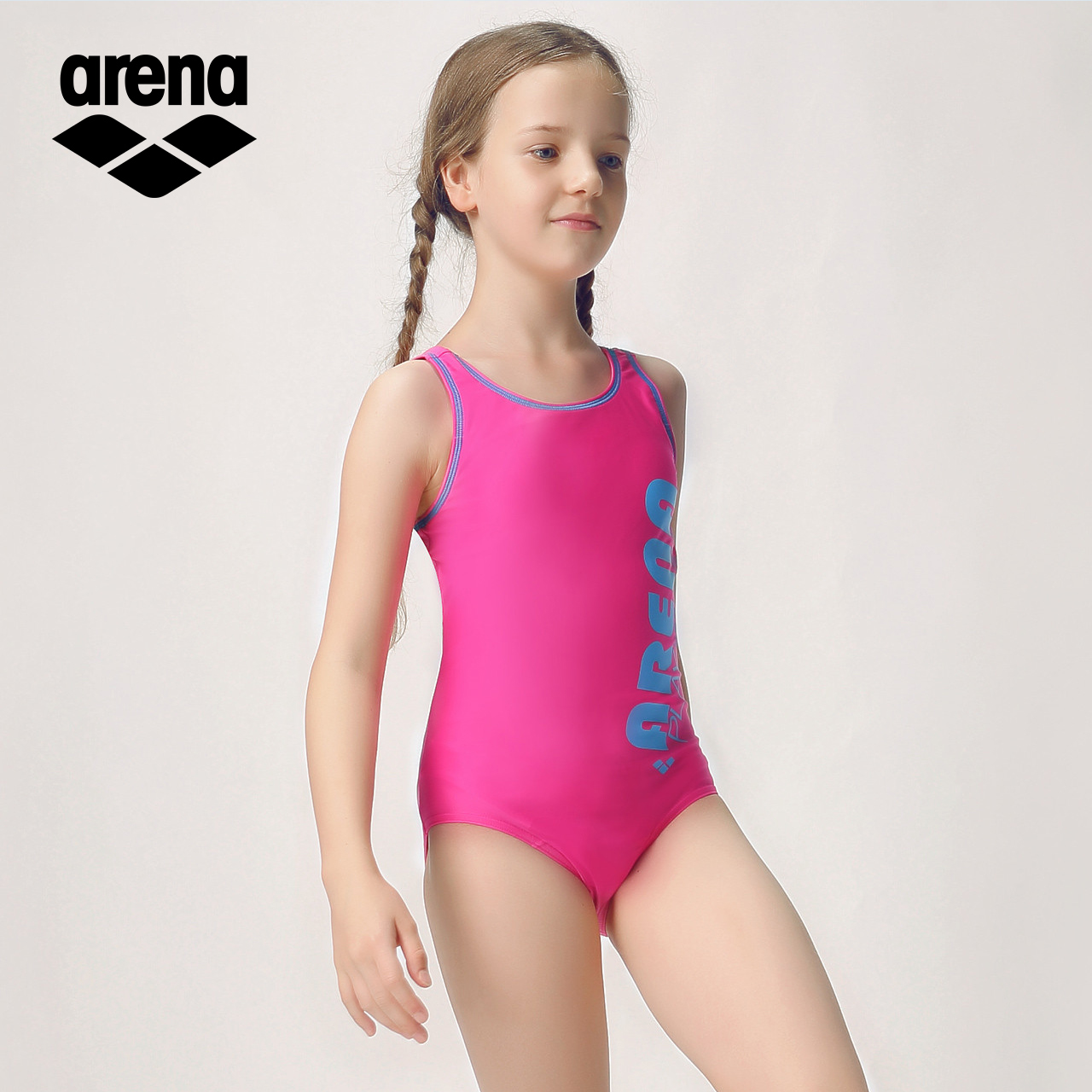 21e7295177778 Arena arina children's swimsuit teen girls one-piece triangle swimsuit ...