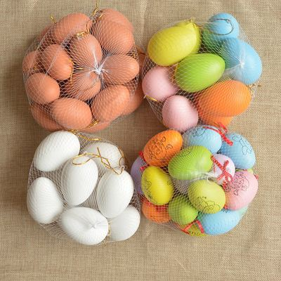 Children's painted eggs diy children's handmade toys Easter plastic egg shells kindergarten painting materials