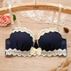 Summer new Japanese student underwear bra cute lace side bra thin section mold cup soft steel ring girl bra