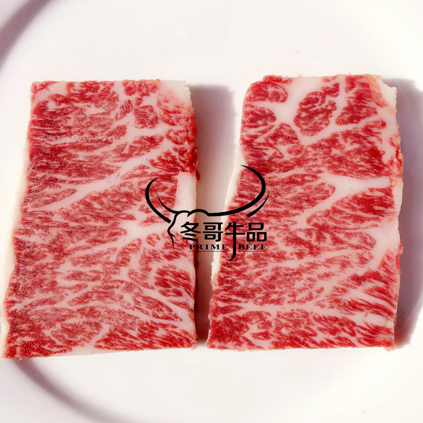 Australian F4 generation thoroughbreds 9 upper brain side Wagyu beef steak  250g fried roasted Super Oil 0 8cm thick size ride