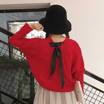 ulzzang sweater women's autumn and winter new students shirting thickened loose hemp sweater shirt jacket