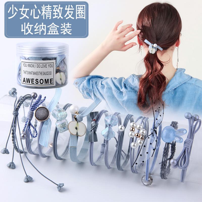 扎头发皮筋小清新韩国头绳发圈发绳可当手链网红头绳女头饰品成人