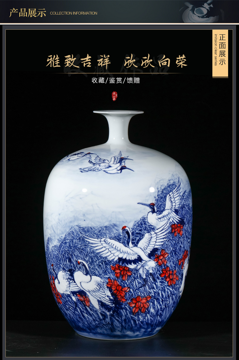 The Master of jingdezhen ceramics hand - made porcelain youligong vase Chinese style living room TV cabinet porch is decorated furnishing articles
