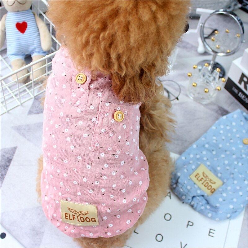 中國代購 中國批發-ibuy99 夏季薄款背心小狗狗宠物衣服泰迪比熊博美小型犬防掉毛春夏装夏天
