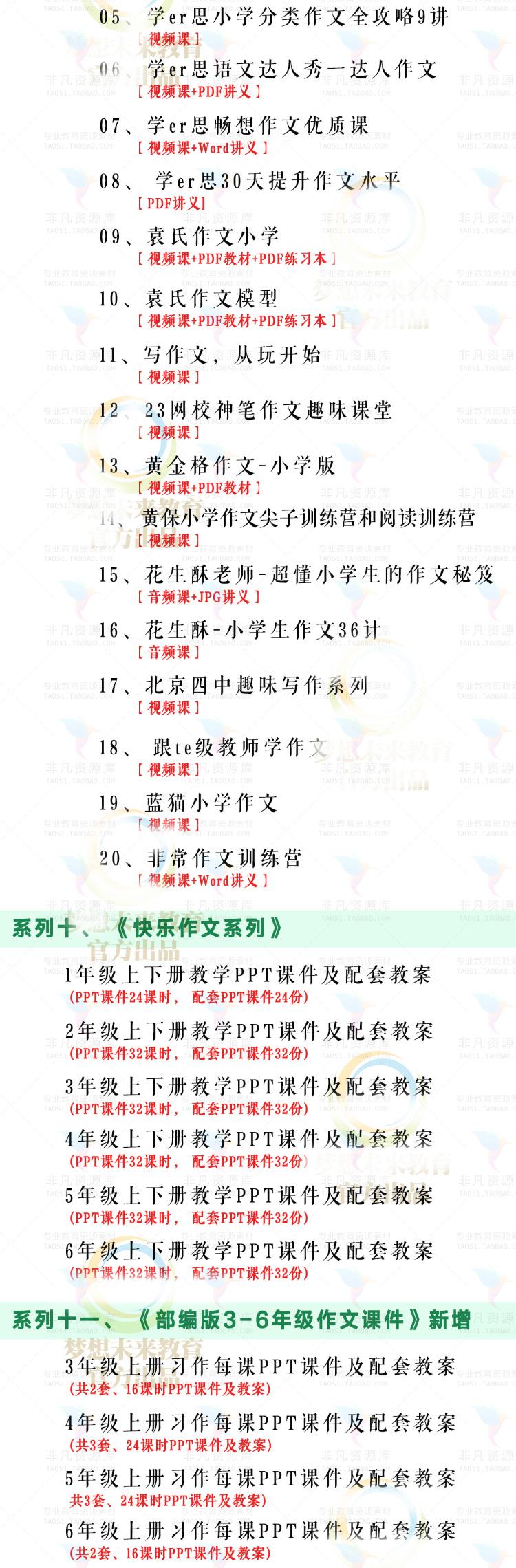 小学快乐作文培训教材ppt教案课件学习辅导视频教程电子版1036