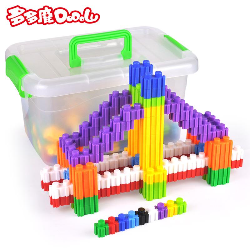天天特价塑料拼插单位积木宝宝力拼装男女孩儿童玩具3-6周岁