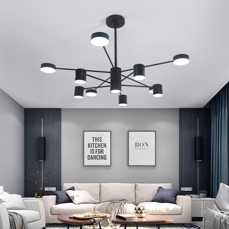北欧大气简约现代客厅吊灯灯具卧室创意个性led餐厅家用网红灯饰