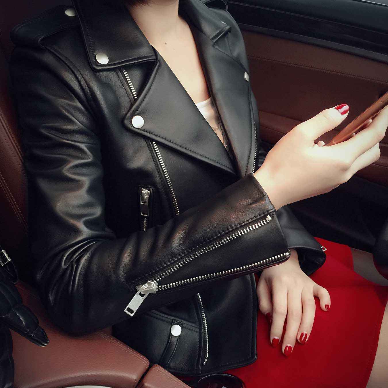 Европейские станции новый весна хайнинг дерма женская одежда локомотив кожаная одежда краткое модель слим небольшой пальто корейский куртка женщина