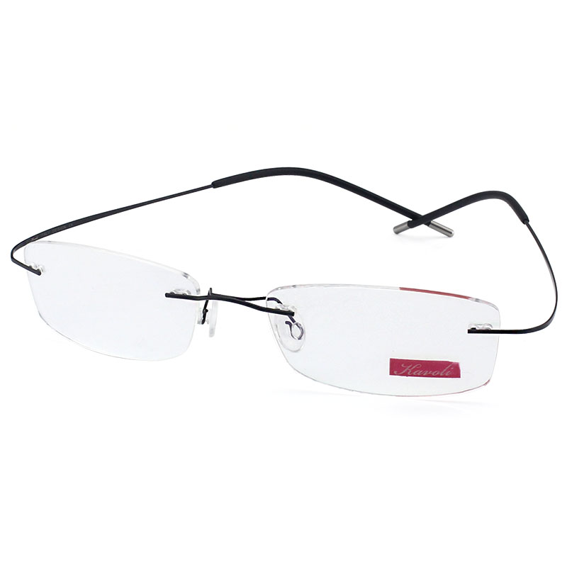 d716caca964a ... Frameless glasses female ultra-light frame without borders myopia  glasses finished pure titanium glasses frame