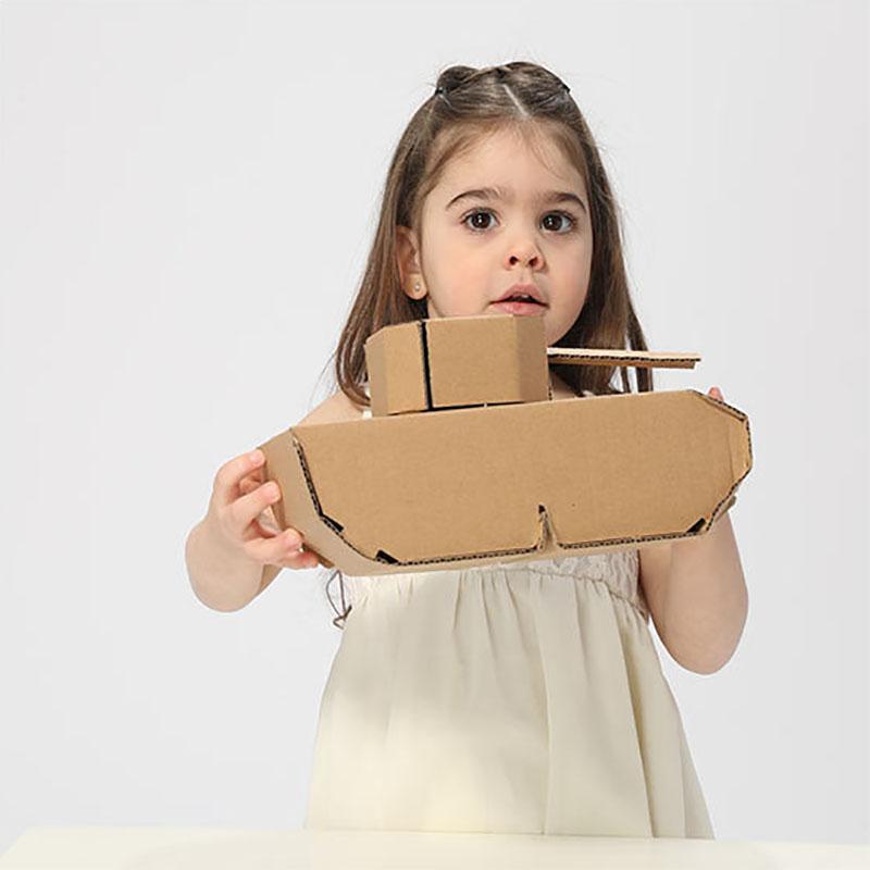 幼儿园纸箱v纸箱纸板包坦克飞机材料纸壳汽车模型儿童玩具手工diy
