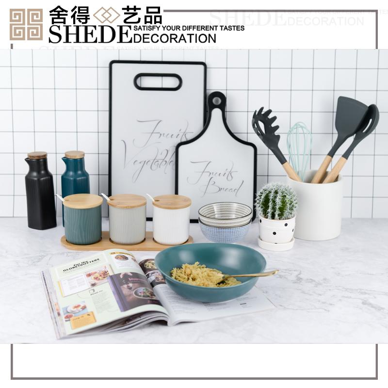 简约现代样板房厨房全屋陈列展厅橱柜软装饰品定制道具摆件v厨房五