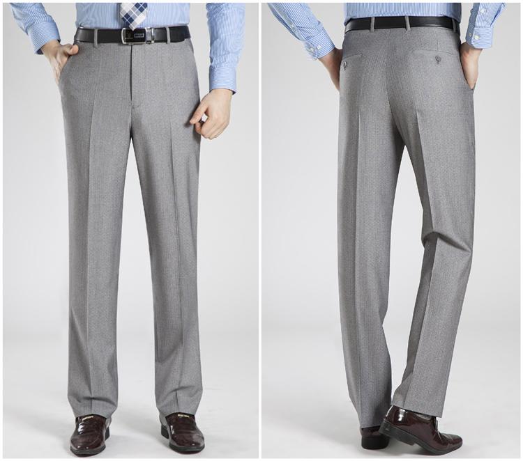 2018 mùa hè lụa nam quần phần mỏng trung niên kinh doanh bình thường phù hợp với quần từ nóng nhỏ giọt quần thẳng