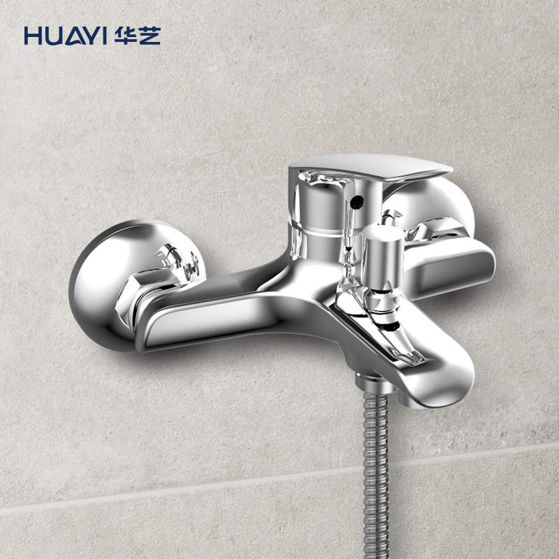Huayi bathroom single bathtub shower tap fine copper hot and cold bathroom mixing valve faucet bathtub tap.