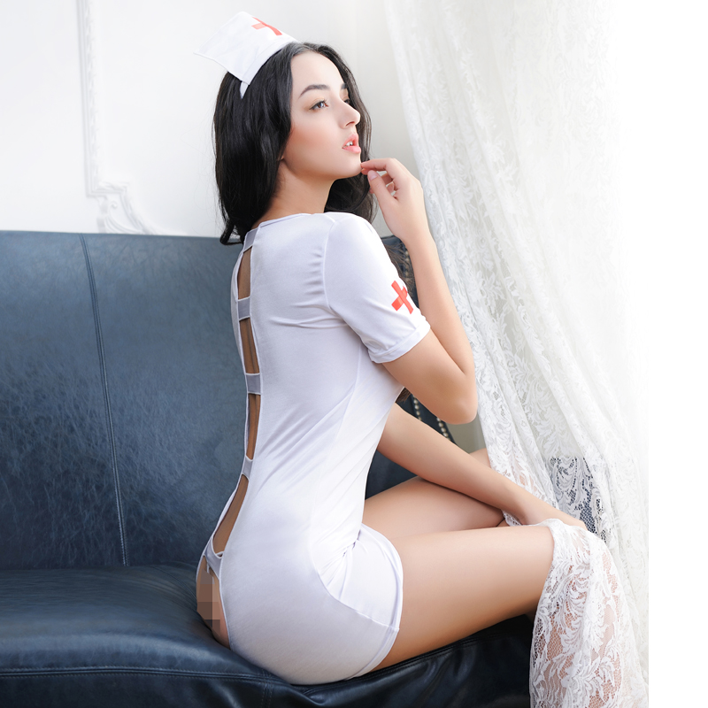 37a28c65975a ... Red core summer and autumn sexy nurse clothes female temptation sexy  pajamas nightdress female sultry lingerie ...