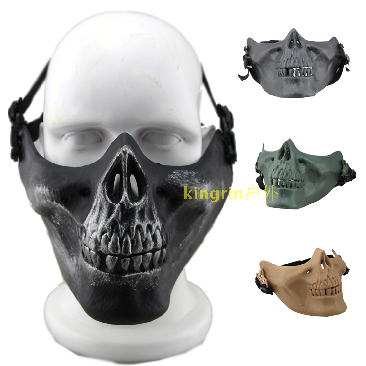 Factory direct us m03 skull mask half face Call Of Duty ghost live CS field  protective mask
