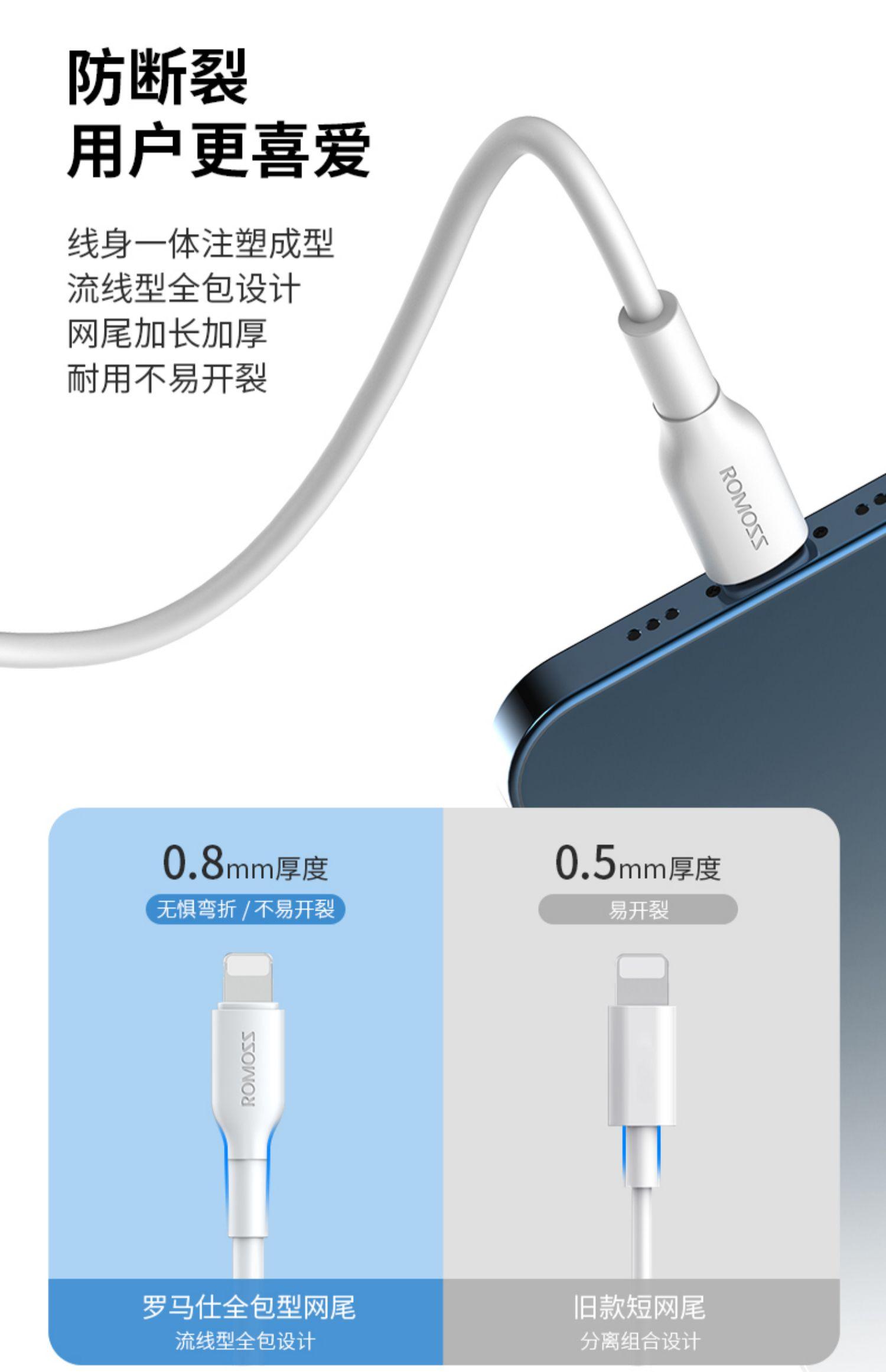 【罗马仕】20W快充苹果充电头8