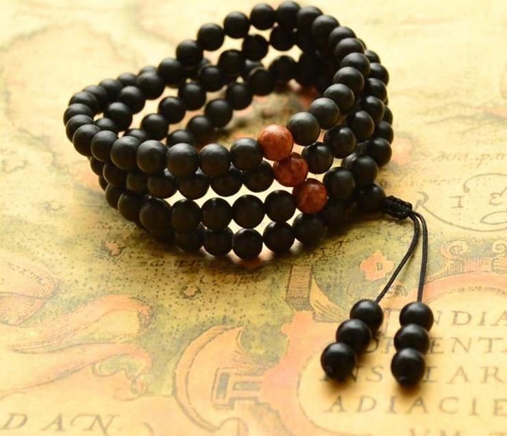 108 natural stone beads beads diameter 8mm health stone bracelets men and women multi-layer