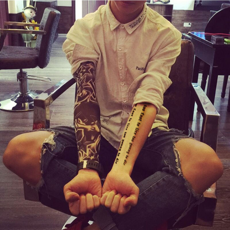 Usd 908 Flower Arm Tattoo Sleeve Seamless Tattoo Men And Women