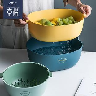 【京櫻】雙層洗菜盆瀝水籃