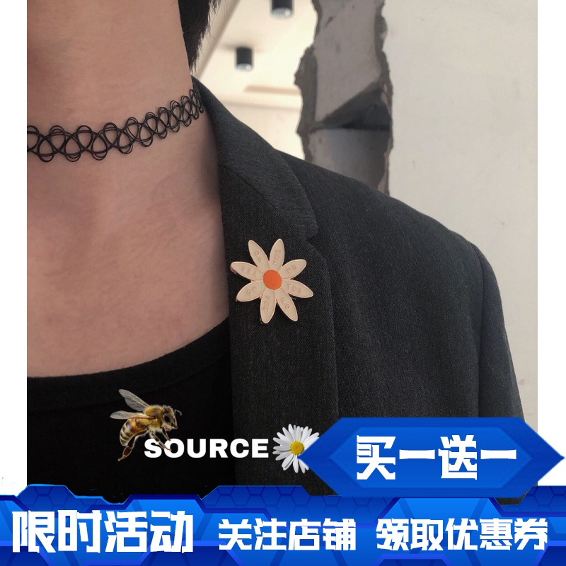 Hoa nở một lần nữa mặt trời hoa khóa trâm Nhật Bản phụ kiện mặt dây chuyền huy hiệu phải GD Variety Sakura phim hoạt hình thiếu nhi - Trâm cài