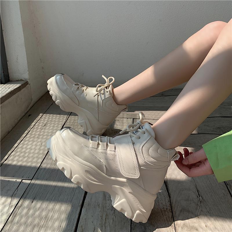 Высокий обувной женщина 2019 зимний осенний новинка модный, подходит ко всему мелочь конец студент обувной волна корейский моды уютный старый отец обувной 604168460383