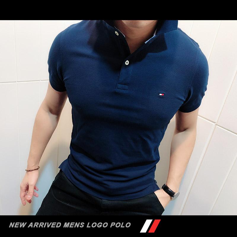 Tommy Hilfiger男士夏新款短袖Polo衫纯棉修身SLIM FIT商务TM4-2